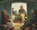 Martinus Rørbye - Rejsescene om bord i en hollandsk trækskøjte - 1846.png