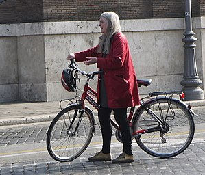 Mary Beard (classicist) - Beard filming in Rome, 2012