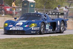 Andrea Bertolini - Andrea Bertolini driving an MC12 at Road Atlanta in the ALMS