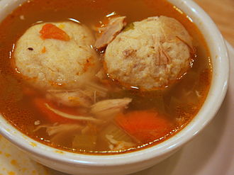 Matzah ball - Matzo balls in a bowl of soup