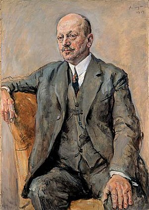 Gisèle Freund - Max Slevogt, Portrait of Julius Freund, 1925.