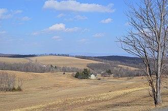 Napier Township, Bedford County, Pennsylvania - Rolling hills northwest of Schellsburg