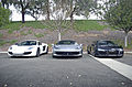 McLaren MP4-12C, Ferrari 458 Italia, and Audi R8 (11592502075).jpg