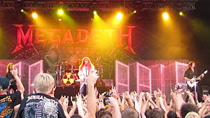 Endgame (Megadeth album) - Megadeth on tour promoting Endgame live in Haapsalu, Estonia in 2010.