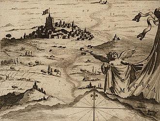 Megara - Megara by Vincenzo Coronelli, 1687