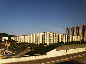 Private housing estates in Hong Kong - Image: Mei Foo Sun Chuen (full view)