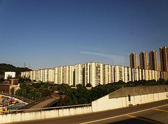 Private housing estates in Hong Kong - Image: Mei Foo Sun Chuen (full view)
