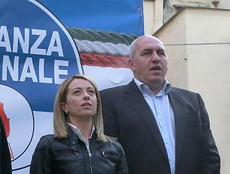 Brothers of Italy - Giorgia Meloni and Guido Crosetto.