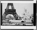 Men building the Fountain St. Vidal near the Eiffel Tower, Paris Exposition, 1889 LCCN90709847.tif