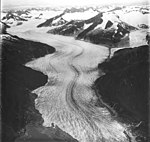 Mendenhall Glacier,terminus of valley glacier in the foreground, hanging glaciers and firn line in the background, August 31 (GLACIERS 6015).jpg
