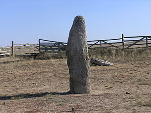 Megaliths in the Urals - Menhir at Akhunovo.