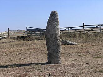 Megaliths in the Urals - Menhir at Akhunovo.