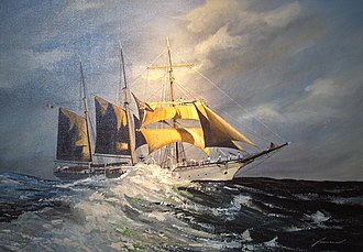Barquentine - Painting of Mercator by Yasmina