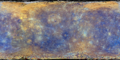 Mercury map by MESSENGER global mosaic enhancedcolor over completebasemap.png