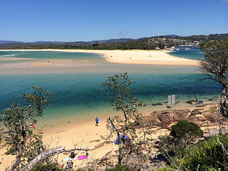 Merimbula - Merimbula Sound and beach