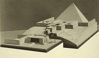 Pyramid of Sahure - Image: Metropolitan Museum Collection. Model of King Sahure's Pyramid at Abusir
