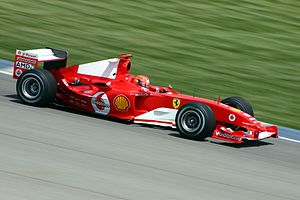 Michael Schumacher 2004 in Indianapolis