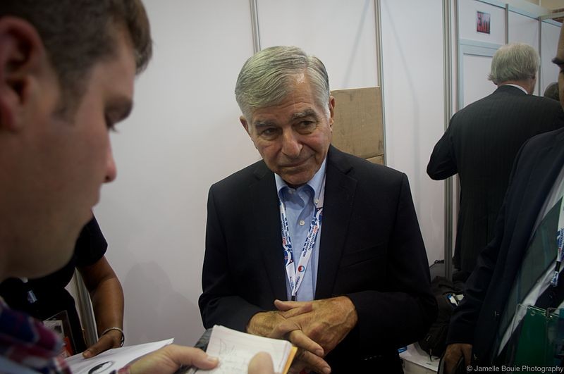 Michael dukakis talks to reporters.jpg