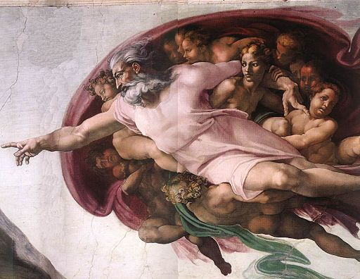 Michelangelo, Creation of Adam 04