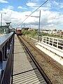 Midland Metro tram approaches Birmingham Snow Hill - DSC08877.JPG