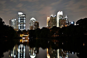Midtown Atlanta - Midtown at night, viewed from Piedmont Park