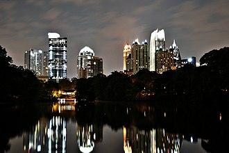 Midtown Atlanta - Midtown at night, viewed from Piedmont Park