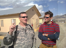 Mike Williams with General Agoglia in Afghanistan.