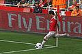 Mikel Arteta corner kick Arsenal vs Swansea.jpg