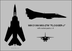 Mikoyan Mig-27M three-view silhouette.png