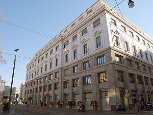 Piazza Fontana bombing - Banca Nazionale dell'Agricoltura building, inside of which the terrorist bombing in Piazza Fontana was carried out on 12 December 1969. (Picture taken on 12 December 2007).