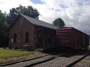National Register of Historic Places listings in Fannin County, Georgia - Image: Mineral Bluff Railroad Depot