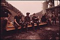 Miners Waiting to Start Their 4 P.M. to Midnight Shift at Virginia-Pocahontas Coal Company Mine -4 near Richlands, Virginia 04-1974 (3906409131).jpg