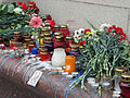 Minsk Metro blast Mourning day candles.jpg