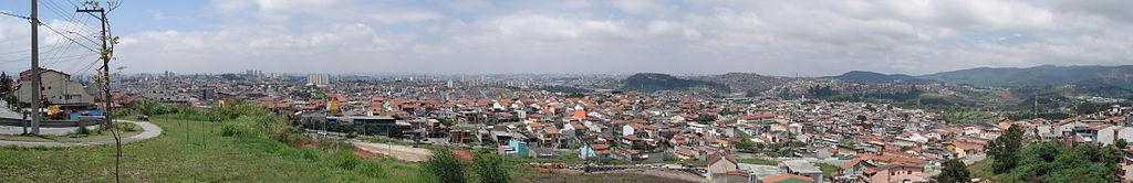 Panorama da cidade de Guarulhos.
