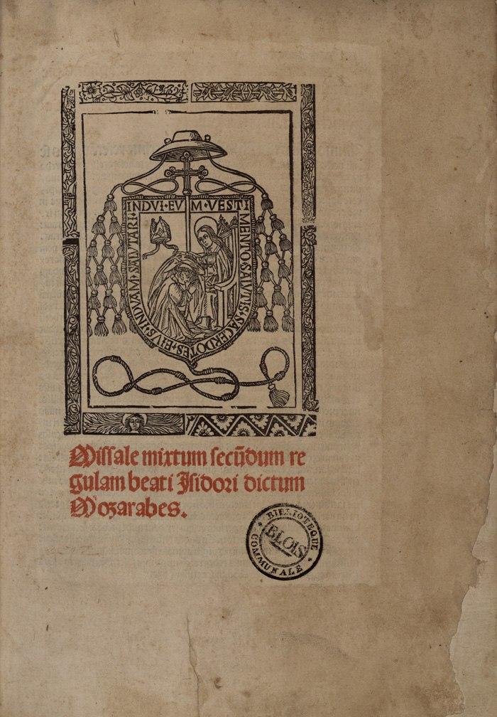Missale Mixtum secundum regulam beati Isidori (1500)