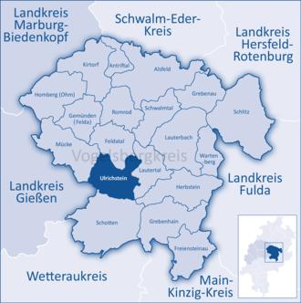 Ulrichstein - Image: Mittelhessen Vogelsberg Ulr