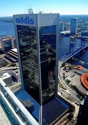 Wells Fargo Center (Jacksonville) - Image: Modis Bldg Feb 2010 f