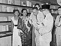 Mohammad Hatta and the head of the book fair, Tambahan dan Pembetulan Pekan Buku Indonesia 1954, p62.jpg