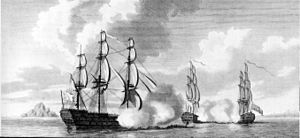 Battle of the Mona Passage - Image: Mona Passage 19 april 1782