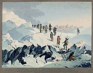 Voyage d'Horace-Bénédict de Saussure à la cime du Mont Blanc en août 1787.