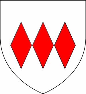 William de Montagu, 2nd Earl of Salisbury - Arms of Montagu: Argent, three fusils conjoined in fess gules