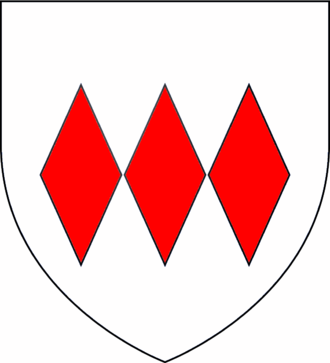 William Montagu, 2nd Baron Montagu - Arms of Montagu: Argent, three fusils conjoined in fess gules