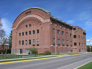 Montana State University - Iconic domed Romney Gym, home of the 1928 national champion Bobcat basketball team, was constructed in 1922.