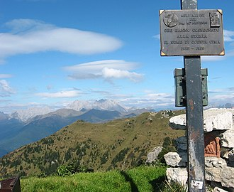 Carnic Alps - Hohe Warte and Kellerspitzen, view from south (Monte Arvenis)