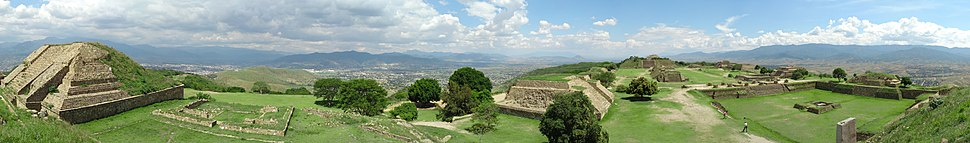 Monte alban panorama from northern platform