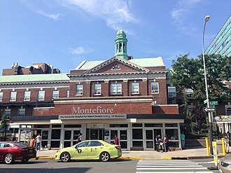 Montefiore Medical Center - Main entrance to Montefiore Medical Center in Norwood, Bronx, NY