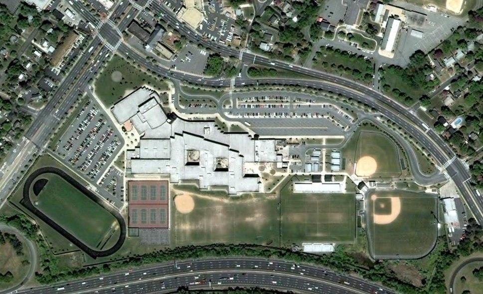 Montgomery Blair High School Four Corners Campus - Aerial