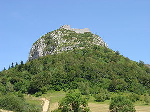 Siege of Montségur - The limestone rock of Montségur