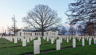 Le Touret Memorial military cemetery located in Pas-de-Calais, in France