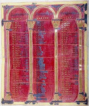 Lindau Gospels - Folio 8r, one of the canon tables